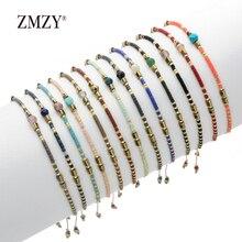 ZMZY, милый тонкий браслет, женские браслеты, бусины, камень, кристалл, браслет, ручная работа, богемное, винтажное, этническое, ювелирное изделие, подарок