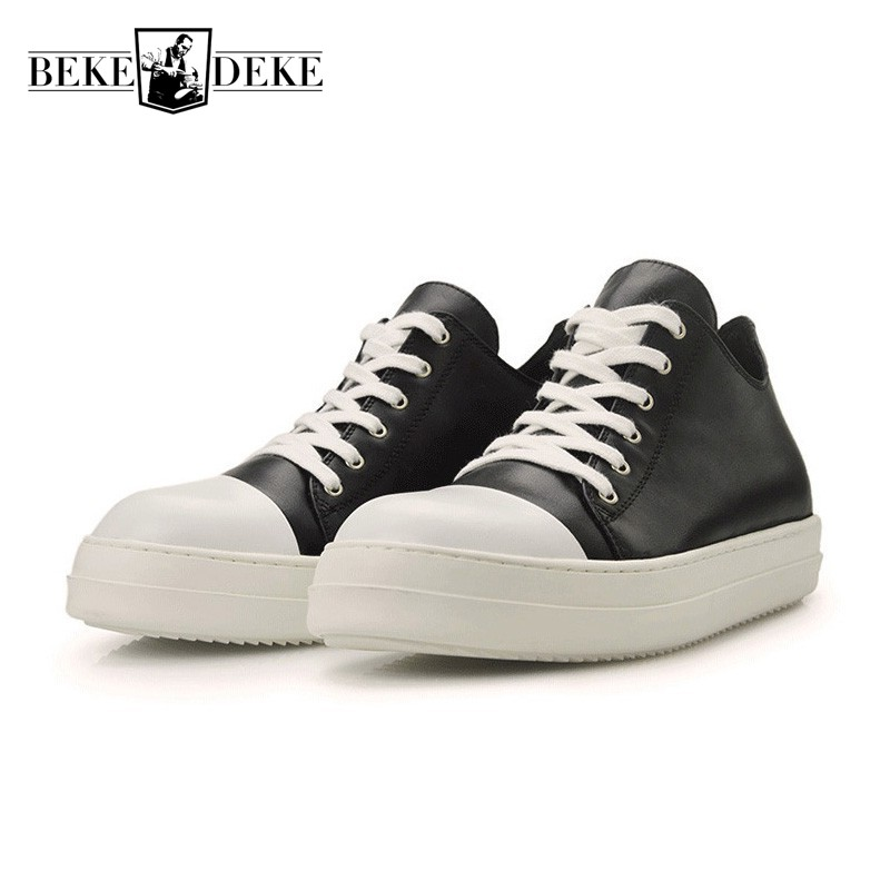Euro Mens Genuine Leather Casual Shoes Thicken Platform Creeper Lace Up Top Brand Man Footwear Fashion Hip Hop Sapato Masculino zapatos hombre sapato masculino couro new fashion high quality brand lace up genuine leather mens casual shoes multi color blue