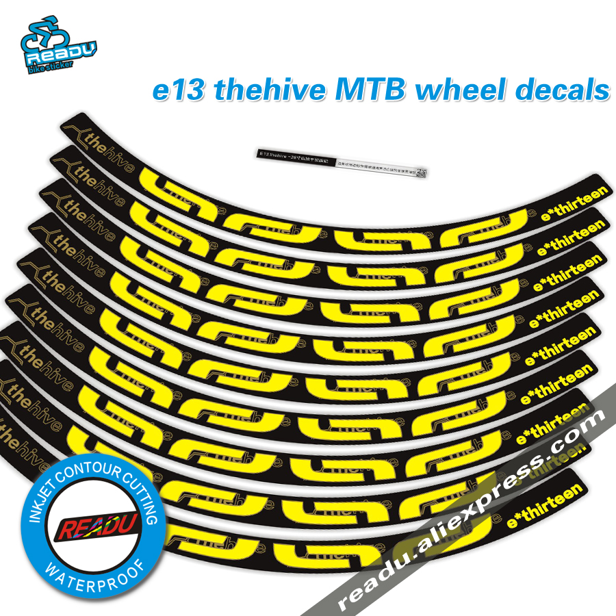 E13 Thehive Mountain Bike Wheel Stickers E13 Bicycle Bike Wheelset Stickers MTB Rims Decal E Thirteen Bike Rim Decal