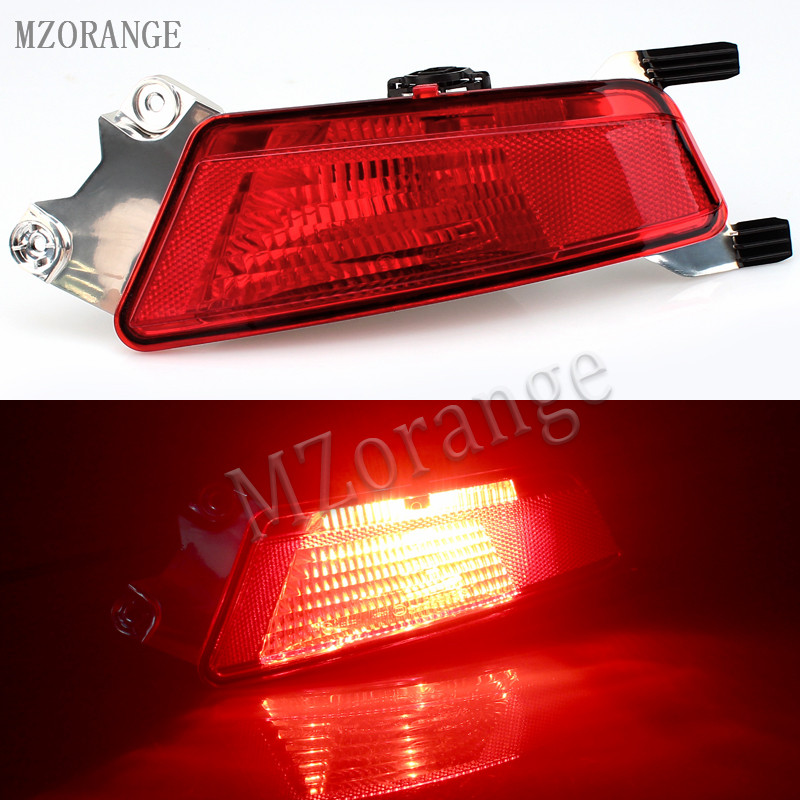 MZORANGE left/Right Car rear Fog Lamp with bulb for Range Rover Evoque 2012- automobile Rear Bumper fog light Rear lights external rear taillights bumper left right side fog lights lamp assembly house holder for jeep grand cherokee replacement parts