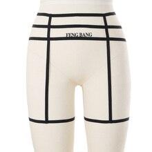 Underwear Women Leg Garter Belt Elastic Body Harness Hollow Garter Belt Suspender Strap Strap Sexy Leg Garter Belt Goth
