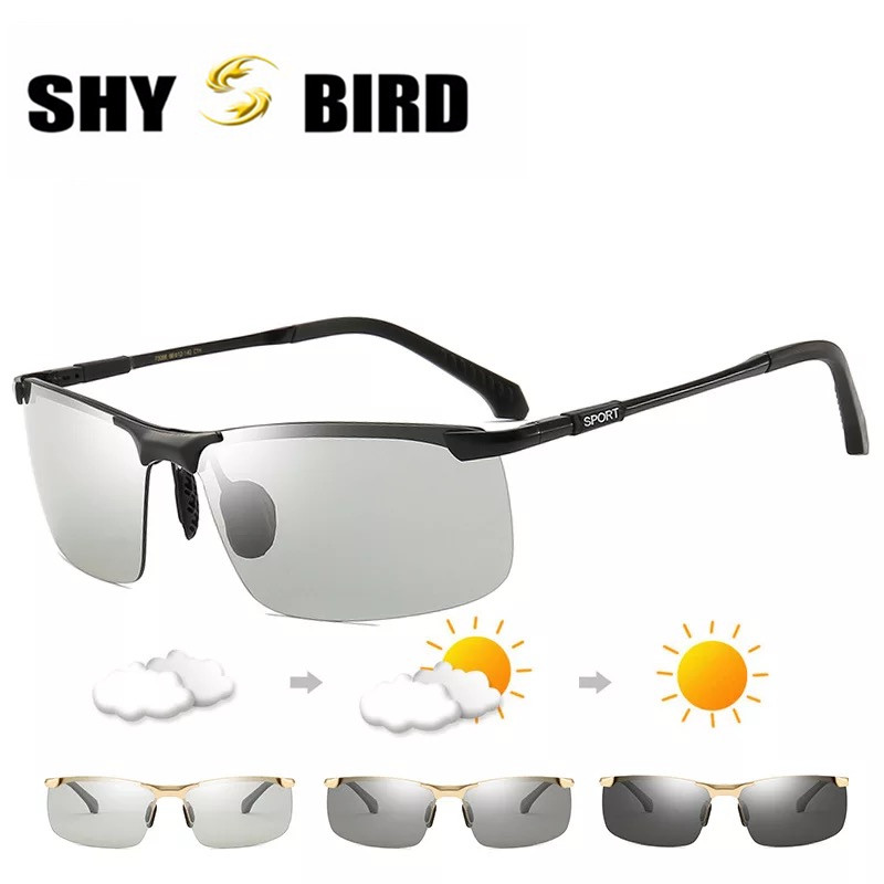 SHYBIRD 2018 Photochromic Sunglasses Men Polarized