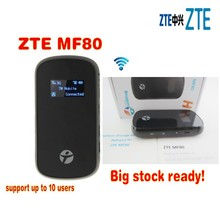 ZTE MF80 Portable Hotspot 42Mbps + 10 WiFi Access + antenna TS9 type