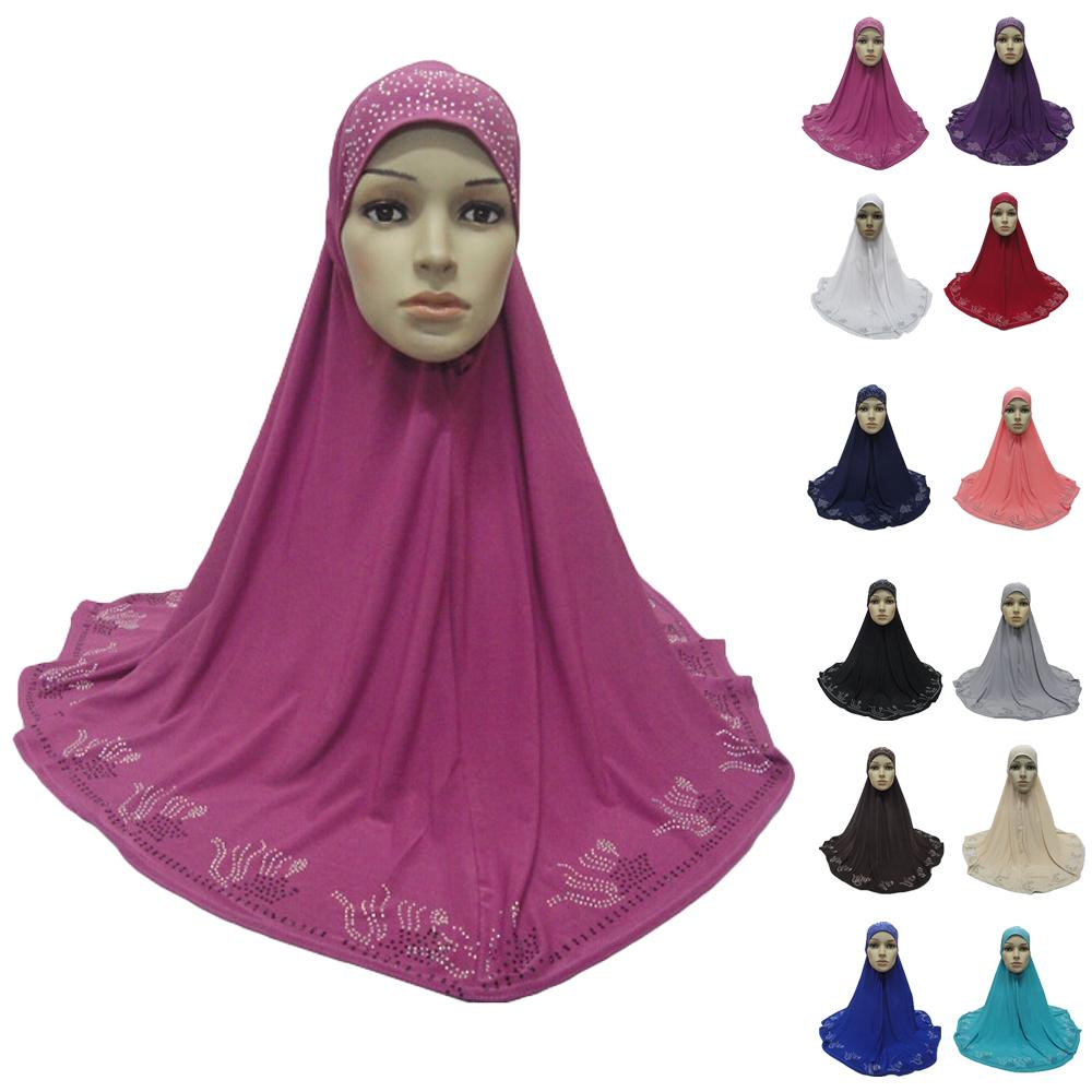 One Piece Hijab Scarf Muslim Amira Prayer Khimar Hat Women  Islamic Headwear Overhead Turban Headscarf Full Cover Worship  ServiceIslamic Clothing