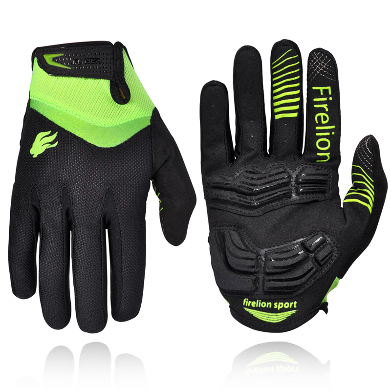 Firelion Outdoor Full Finger Gel Touch Screen Cycling Gloves Off
