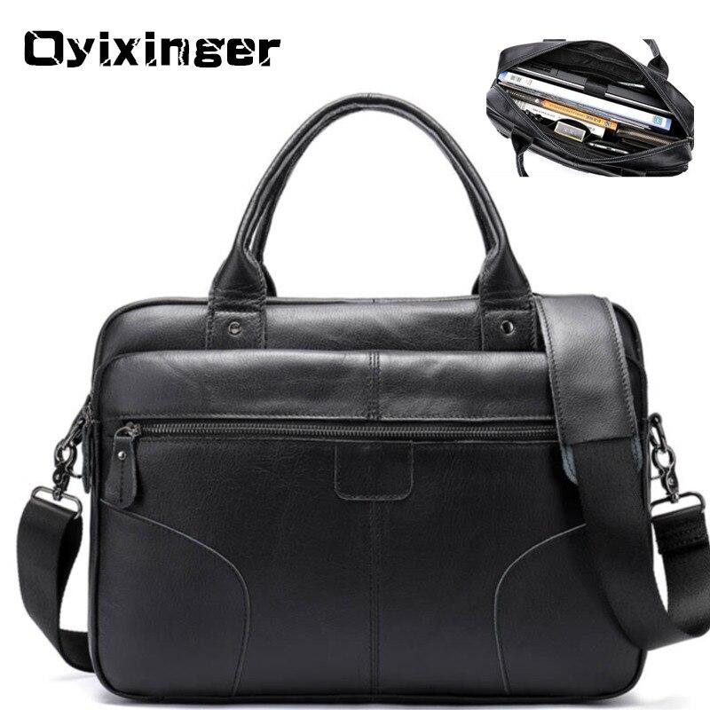 Мужской кожаный портфель для ноутбука, s сумки для мужчин, мужской портфель из натуральной кожи, мужская сумка тоут, деловая сумка, A4 папка, сумки мессенджеры, Sac Homme|Портфели|   | АлиЭкспресс