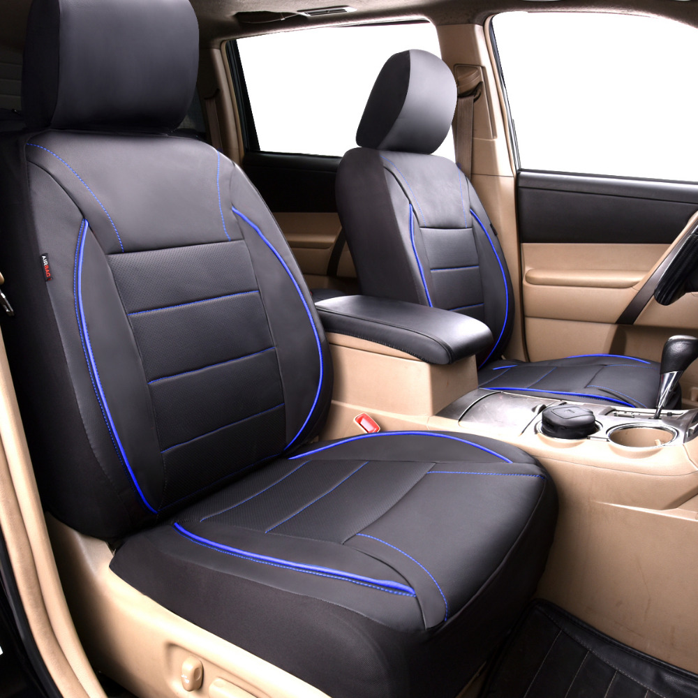Car-pass car seat covers popular luxurious pu leather blue color two front seat car goods car seat cover for lada nissan toyoto brand new styling luxury leather 5 color 3d car seat covers front