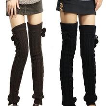 Лидер продаж; женские зимние вязаные чулки; гетры без ступни; высокие ботинки; высокие чулки; Розничная/ ; 5 штук; 7FPL