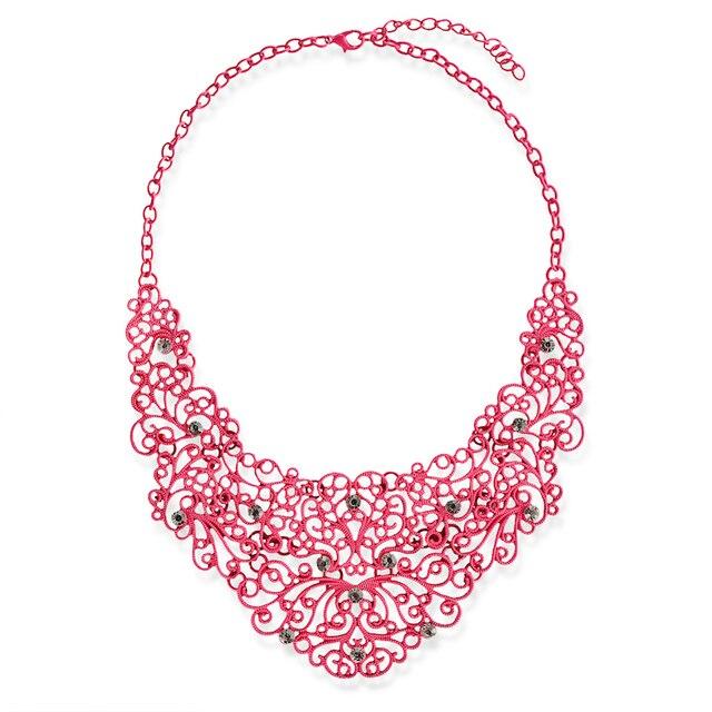 Crochet Flower Patterns Style Necklaces Steppe Flower Statement