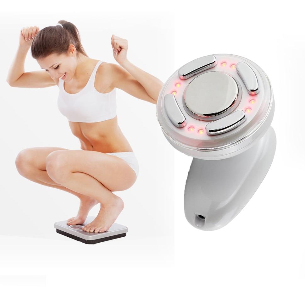 ФОТО Ultrasonic Dot Matrix RF Massager slimming body Firming face Health Care burn Fat Abdomen lose weight Sculptor Infrared Slimming