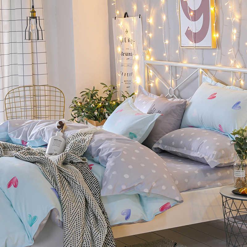ParkShin 2019 Red Love Bedding Set Double Bedspread Duvet Cover Set Flat Sheet Queen King Bed Linen Set Decor Home Textile