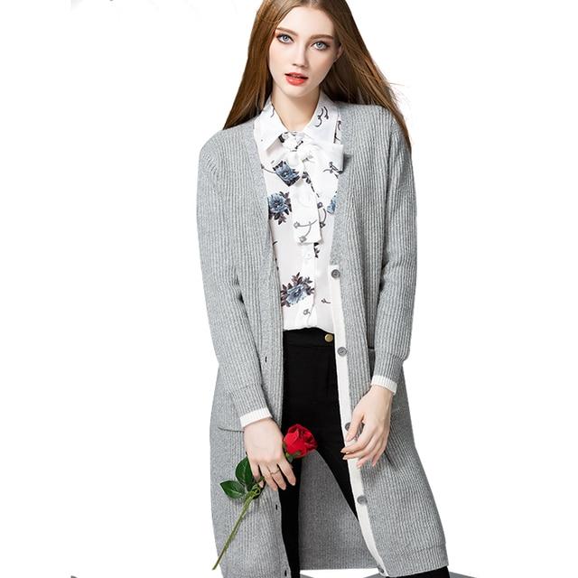 c6f32e32789a3d ArumLily 2017 New Fashion Street Style Loose Long Oversized Female Knitting  Cardigan Sweater Jacket Coats Women Brand Clothing