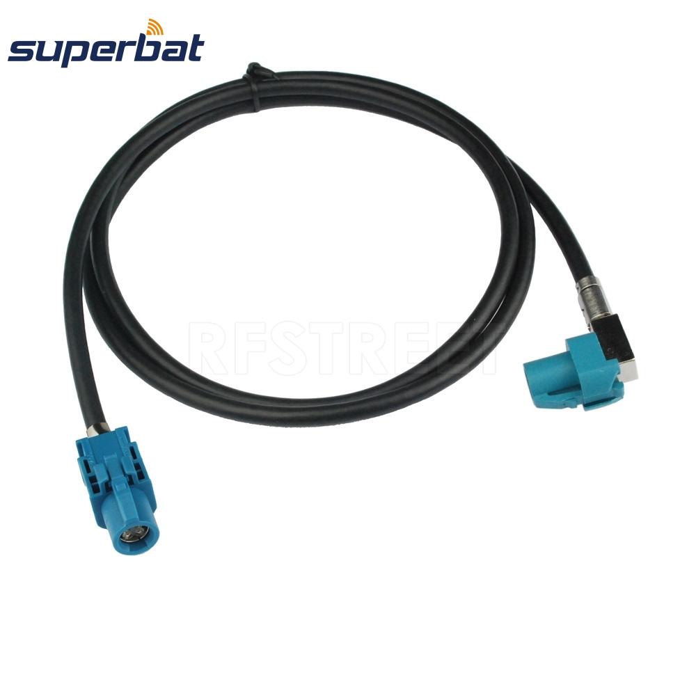 Superbat Auto Vehicle High-Speed Transmission FAKRA HSD Z Waterblue LVDS 3m Shielded Dacar 535 4-Core Cable For BMW/Benz