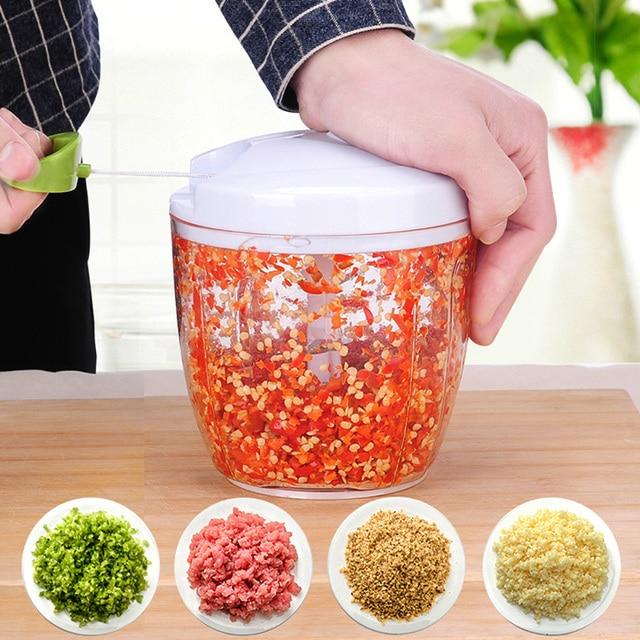 Многофункциональный Кухня ручной, для овощей чеснокодавилка резак Еда терка для овощей Slicer Инструмент для фруктов руководство чеснок мясорубку