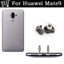 2PCS silver / Gold / Black For Huawei Mate 9 Buttom Dock Screws Housing Screw na