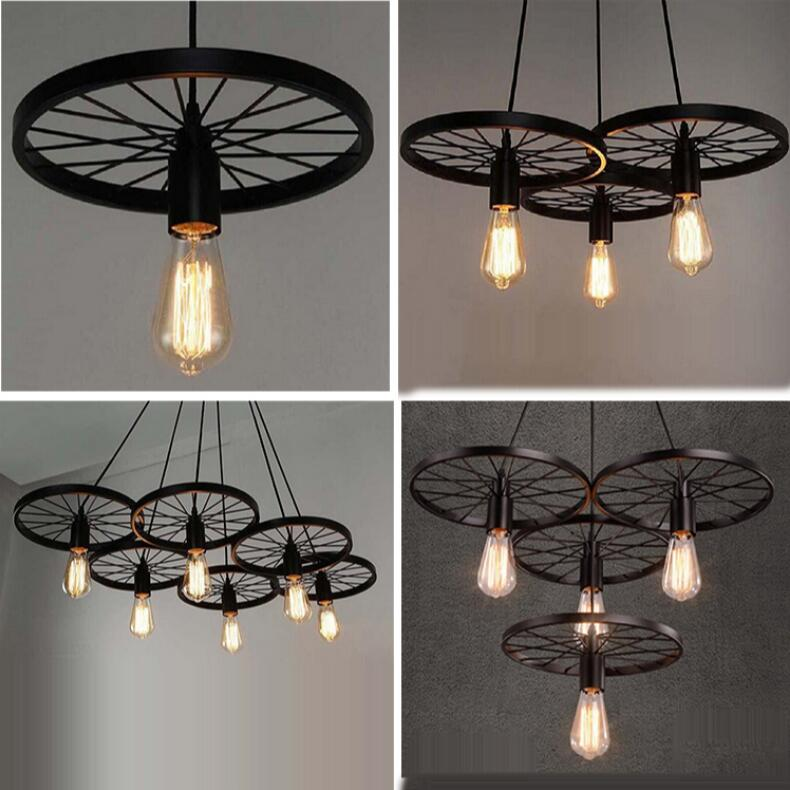 American style retro loft industrial wind wheel ceiling lights creative chandelier restaurant cafe bar fashion cafe lamps retro cafe bar long spider lamp loft light industrial creative office the heavenly maids scatter blossoms chandelier