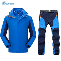 Ski suit male outdoor camping hiking Clothing Sets hunting Clothes Sets waterproof warm men's jacket and pant