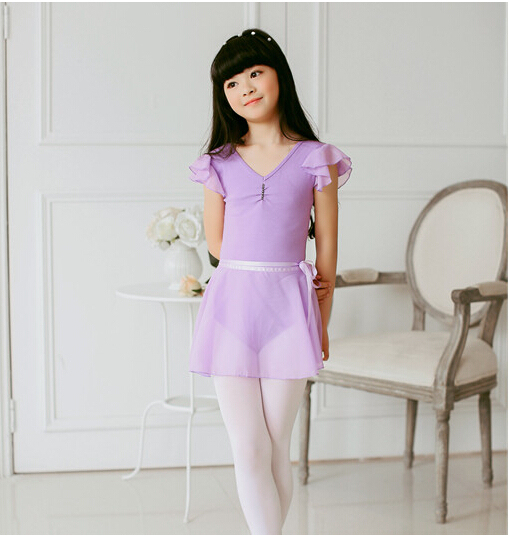 a9c18c12975b Children ballet tights dress with chiffon skirts gymnastic leotard ...
