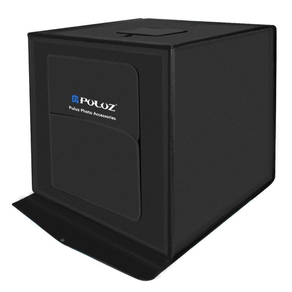 PULUZ 60*60 cm Boîte à Lumière Mini Photo Studio Photographie Box Pliable Softbox 60 W LED Éclairage Studio Tir tente Boîte Kit