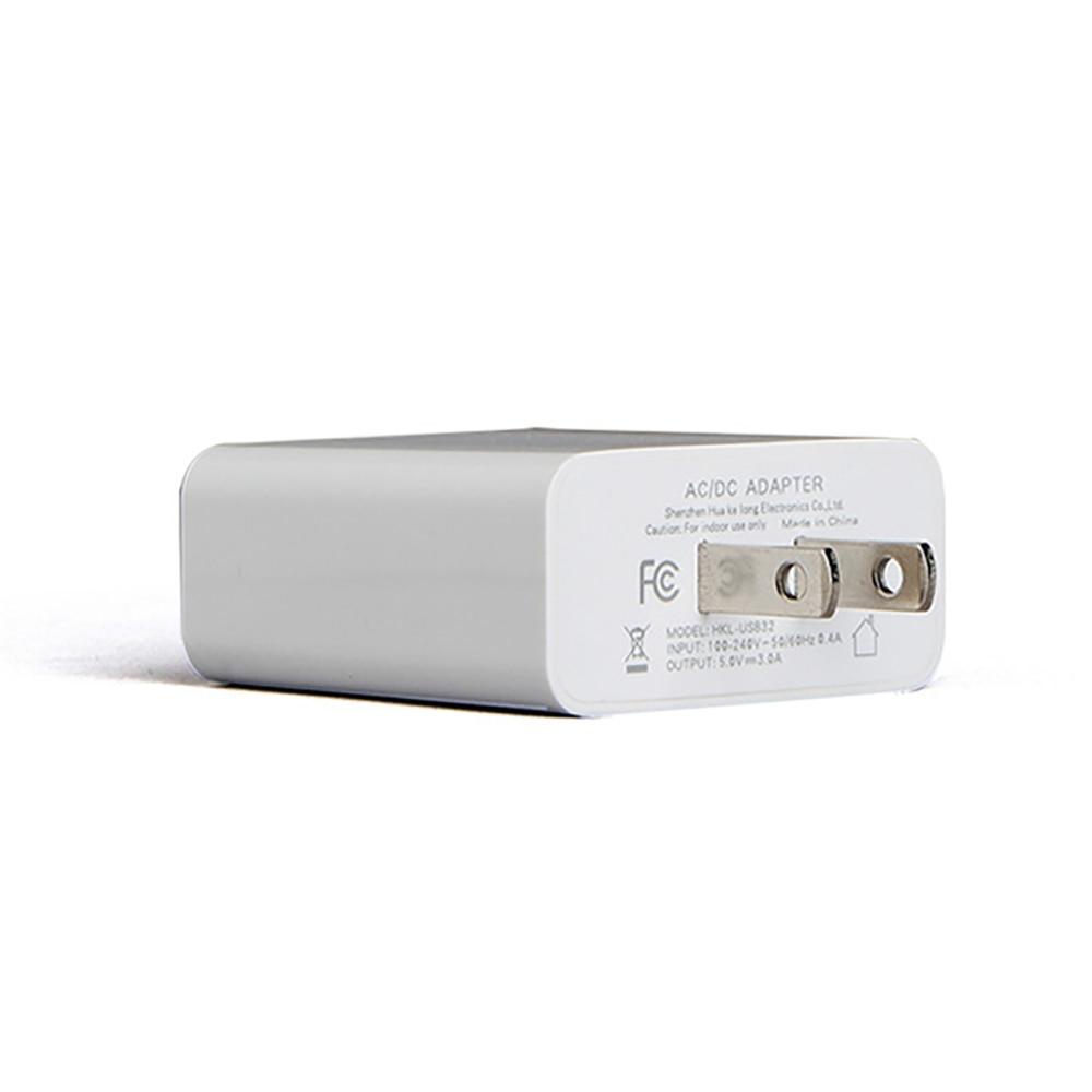 USB Charger LED Universal Untuk 3 Port Cepat 5 V 3A UNI EROPA US Plug - Aksesori dan suku cadang ponsel - Foto 6