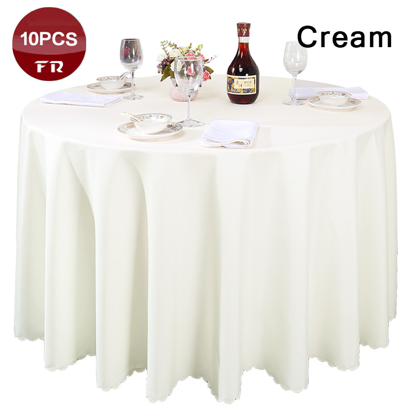 Factory Outlet Wholesale 100% Polyester Seamless Table Cloth for Wedding Decor Hotel Restaurant Home Round Retangular Table
