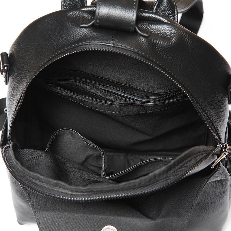Nouveau femmes sac à dos en cuir véritable mode casual sacs haute qualité peau de vache femme sac à bandoulière sacs à dos pour filles de haute qualité - 5