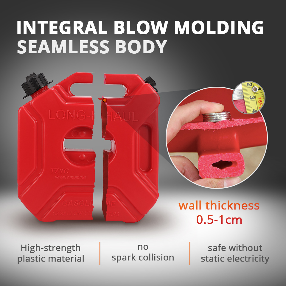 Auto Replacement Parts Bright 5l Mount Motorcycle Spare Fuel Tank Jerry Cans Plastic Car Petrol Tanks Oil Container Backup Oil Can Motorcycle Accessories Red Back To Search Resultsautomobiles & Motorcycles