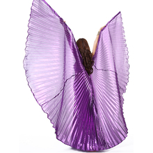 10 Colors Stage Performance Props Dance Accessories Egyptian Gold Wings Non-split  Belly Dance Isis Wings 240 Degree