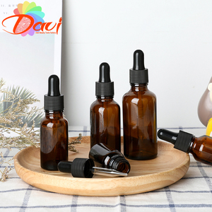 Empty Dropper Bottle Amber essential oil Glass Aromatherapy Liquid Brown 5-50ml Drop for massage Pipette Bottles Refillable
