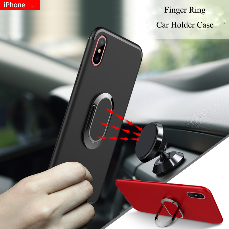 Magnetic Ring Stand Case For iphone XS Max XR XS X Soft TPU Cover Shell For iphone XR X XS 8 7 6 6S Plus Car Holder Case