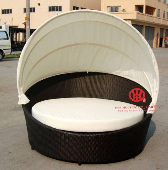 Rattan Outdoor Sun Bed Double Bed Design Furniture,garden Furniture Leisure Rattan Round Sunbed,Round Sofa Bed,Beach Sunbed