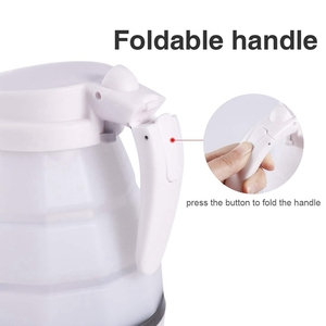 Image 4 - Foldable Electric Kettle Durable Silicone Compact Size 850W Travel Camping Water Boiler Electric Appliances Us Plug
