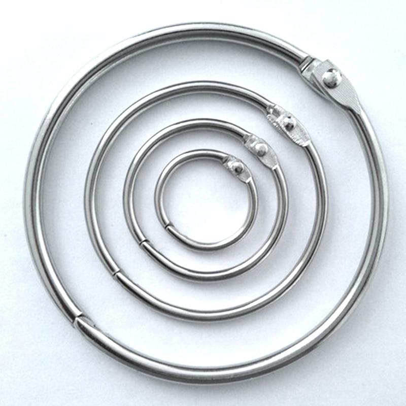 High Quality 2/3/5/10Pcs Metal Ring Binder 15 - 80mm DIY Albums Loose-leaf Book Hoops Opening Office Binding Supplie Photo Album 3