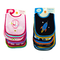 7 pçs/lote Quente Babadores Para Bebês de Algodão Infantil Toalhas Saliva Bordado Burp Cloths Engraçado Do Bebê Desgaste Do Bebê Acessórios