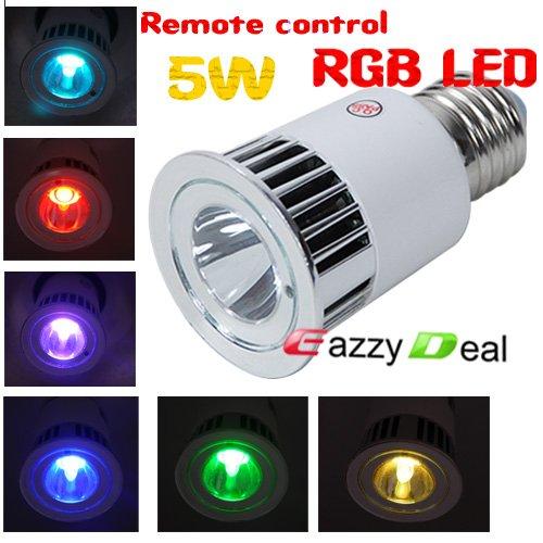 5w 16 colors rgb multicolored ir remote control led spot lightmcl 127 00 - Spot Led Multicolore