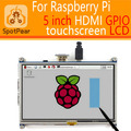 Raspberry pi 3 модель B/B +/+ 5 inch HDMI GPIO Резистивный Сенсорный Экран ЖК-дисплей