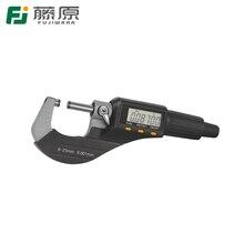 Promo offer FUJIWARA 0-25cm Digital Display Micrometer External Micrometer 0.001mm Caliper Gauge Measuring Tool