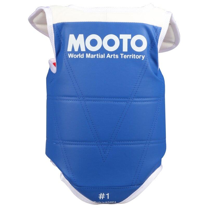 Mooto традиционные тхэквондо грудь охранника детей, мужчин, женщин Красный Синий каратэ защитники тхэквондо WTF утвержден груди сторонников ТК...