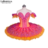 6a26eaffc5 Adult Classical Ballet Stage Costumes Women Professional Ballet Costume Red  Orange Ballerina Nutcracker Performance Tutus BT9058