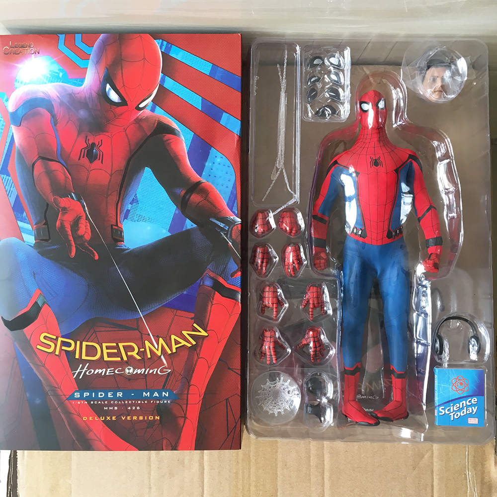 30cm Real Clothes Crazy Toy Marvel Avengers Spiderman Hero BJD Joints Action Figure Moveable Model Toy Gift