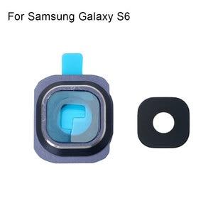 Image 2 - 1 เซ็ตด้านหลังเลนส์กล้องเลนส์ฝาครอบกรอบสำหรับ Samsung Galaxy S6 เปลี่ยนชิ้นส่วน