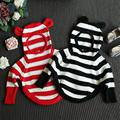 New Baby Girls Knitwear lovely 3D pandas Cotton Pullover Kids Girls Knitted Sweater for 2-7Y Girls Boys sweater RA5-13H