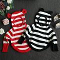 New Baby Girls Punto 3D encantadores pandas Algodón Pullover Niños Niñas Niñas Niños suéter de Punto Suéter para 2-7Y RA5-13H