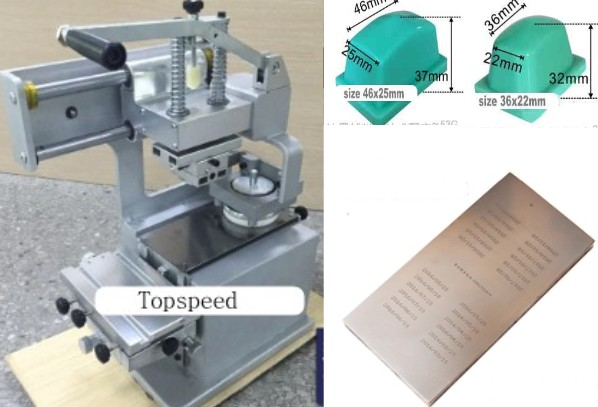 Manual Sealed Ink Cup Pad printing machine 1 color + 2 rubber pads + one cliche plate стоимость