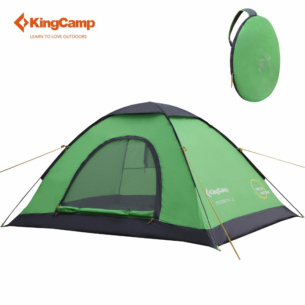 KingCamp Camping Tent  2-Person Outdoor Portable Lightweight Instant Dome Pop up tent With Carry Bag for Backyard Junior kingcamp портативное складное ведро для лагеря досуга пикник вне дома 8l