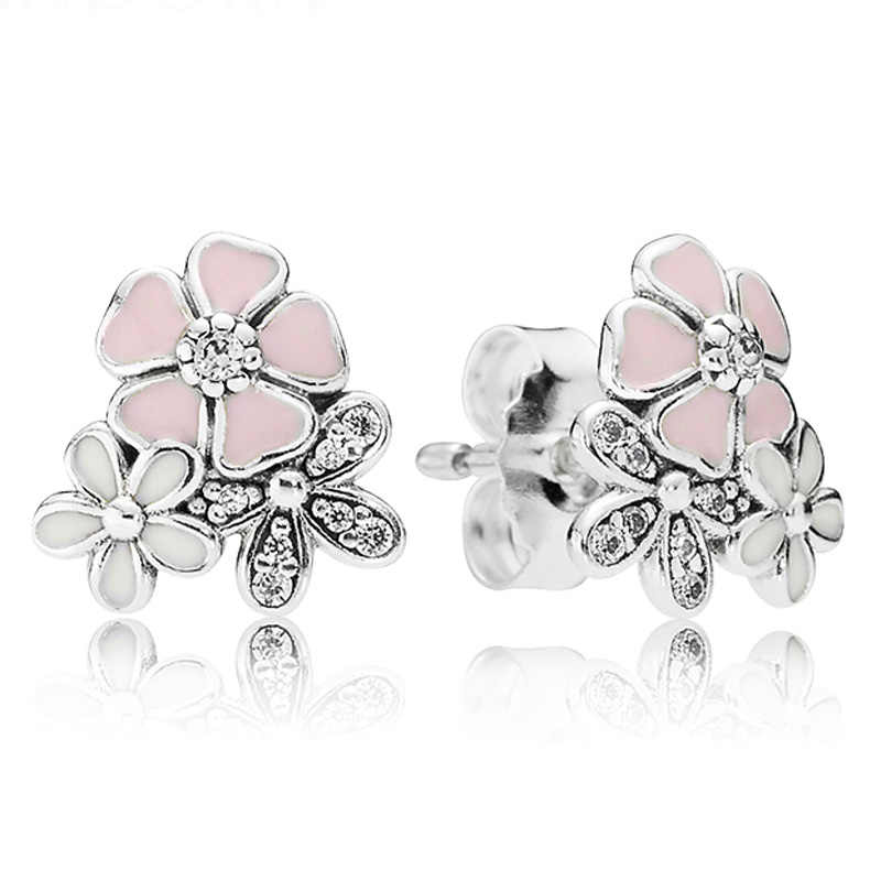 e67474233 ... Forever Love Poetic Blooms With Crystal 925 Sterling Silver Earrings  Studs For Women Wedding Party Gift ...