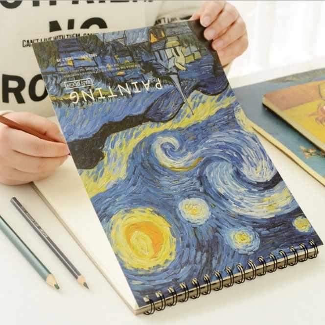 Sharkbang Vintage Graffiti A4 A3 Sketch Book Documenti di Disegno Pittura di Arte Modello Sketchbook Studenti di Cancelleria Regalo Di Compleanno
