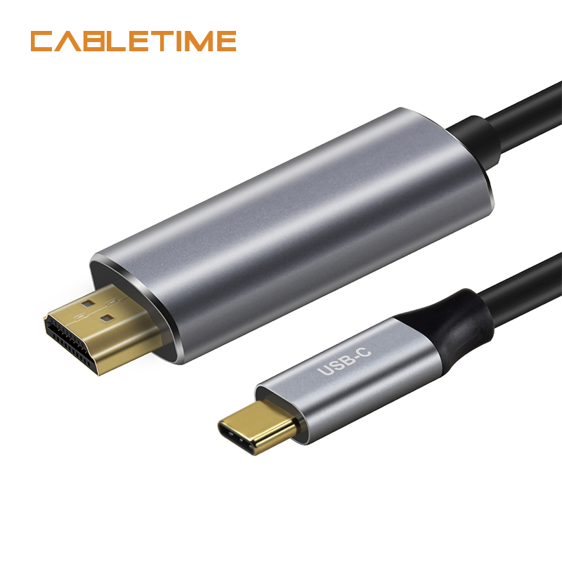 Cabletime USB C to HDMI Cable Type C HDMI Adapter M/M 4K 60Hz Converter 1.8m for MacBook Samsung Galaxy S8+ N102 все цены