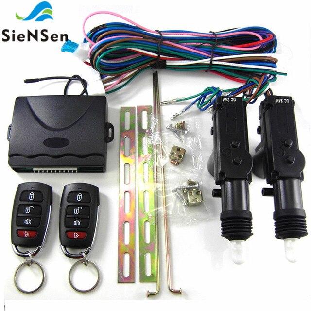 SieNSen 24V Auto Alarm Remote Controls Central Door Locking System Car Security Kit For Truck M615 8101