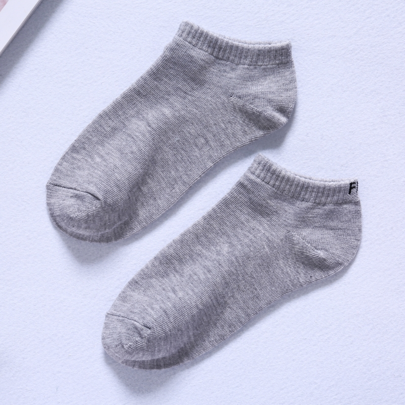 Mens Funny Letter Print Low Cut Ankle Boat Short Breathable Basic Socks Dropshipping